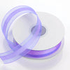 "25 Yards 7/8"" Lavender Organza Satin Center Ribbon"