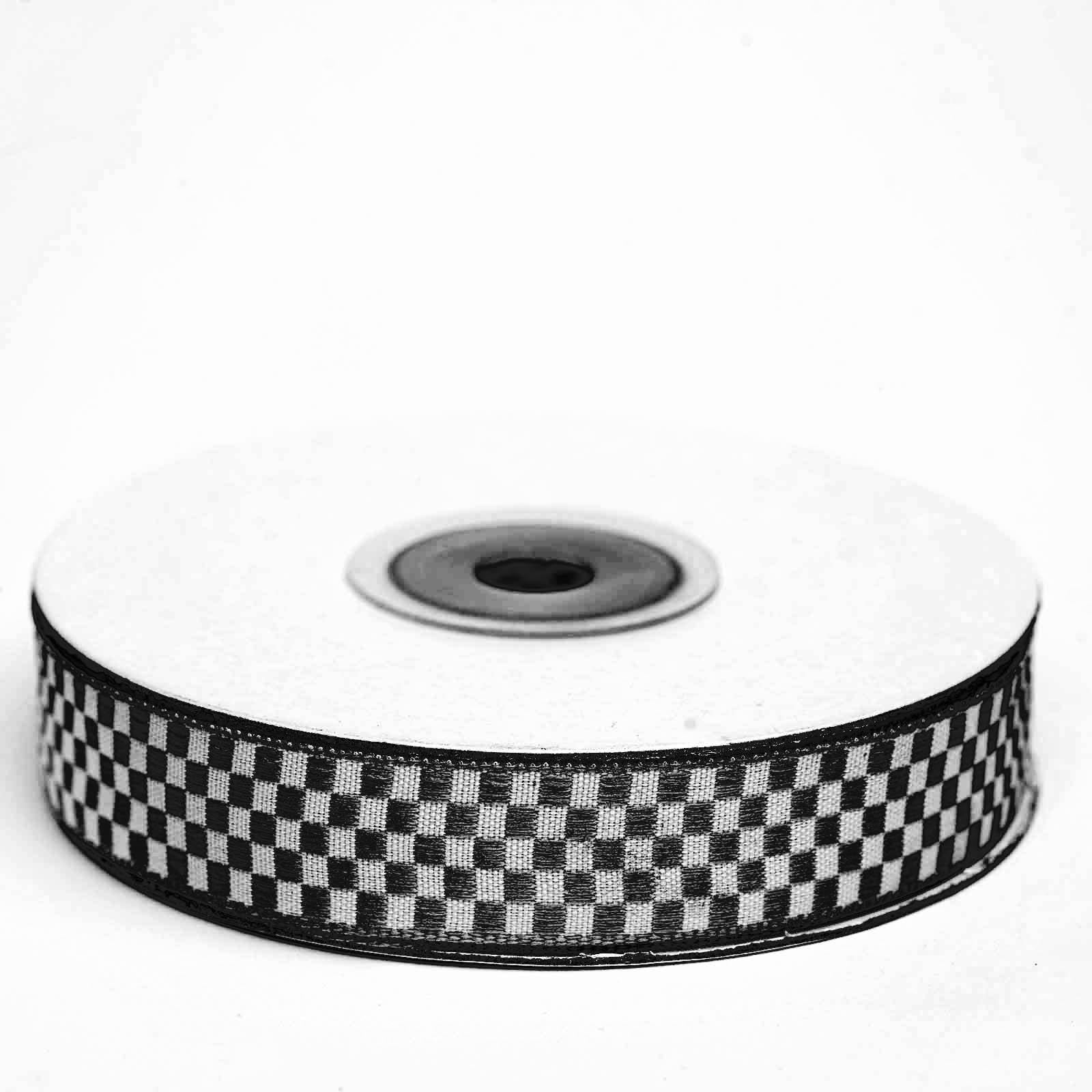 25 Yards 58 Black Gingham Checkered Ribbon Tablecloths Factory