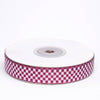 25 Yards | 5/8 Inch | Wholesale Buffalo Plaid Ribbon  | TableclothsFactory