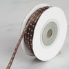 "25 Yards 1/8"" Chocolate Satin Polka Dot Ribbon"