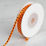 25 Yards 1/8 Inch | Orange Satin Polka Dot Ribbon | TableclothsFactory