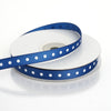 "25 Yards 3/8"" Navy Blue Grosgrain Polka Dot Ribbon"
