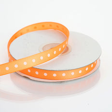 25 Yards | 3/8 Inch | Grosgrain Polka Dot Ribbon | TableclothsFactory
