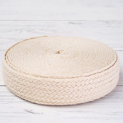 "Woven Jute Ribbon | 1 Pack | Ivory | 1.25"" x 10 Yards 
