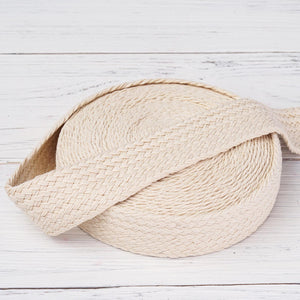 "10 Yards 1.25"" Ivory Picturesque Woven Rustic Burlap Jute Ribbons"