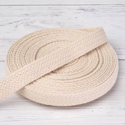 "10 Yards Ivory 7/8"" Picturesque Woven Rustic Burlap Jute Ribbons"