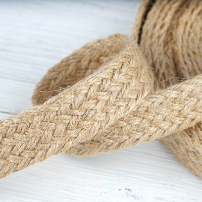 "10 Yards Natural 7/8"" Picturesque Woven Rustic Burlap Jute Ribbons"