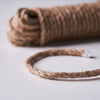 33FT | 8mm Natural Jute Rope Twine String, Craft Rope