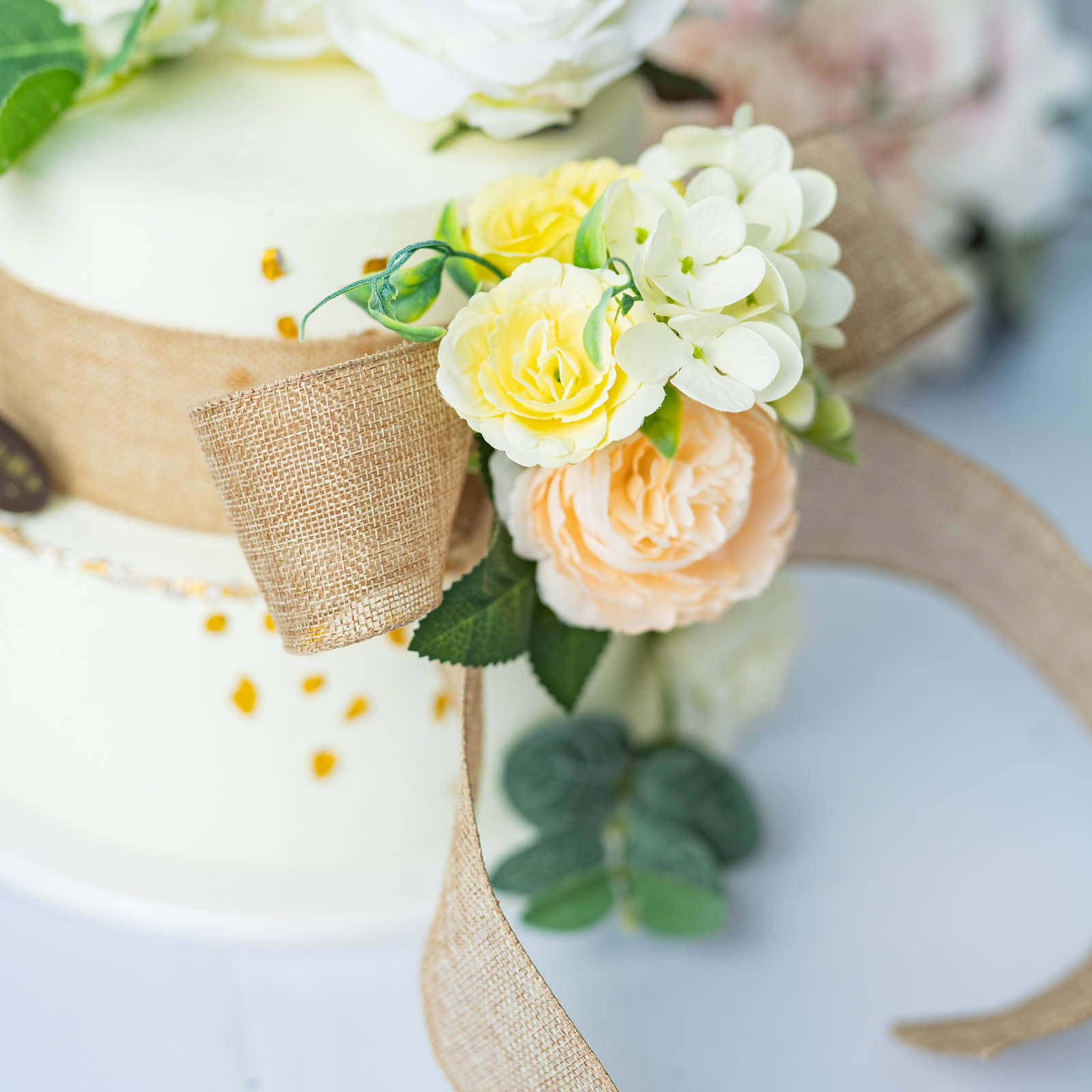 Wired Ribbon Wholesale   10 Yards Natural 2 5 Tone Wired Burlap Ribbon Wholesale