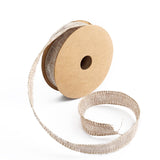 "10 Yards 7/8"" Natural Tone Burlap Jute Ribbons"