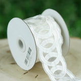 "2"" x 5 Yards White Interlocking Rings Crochet Pattern Ribbon Lace Trim By The Bolt"