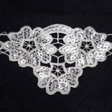 "Sequins Stitch Crochet | Lace Trim Ribbon | 3""x 5 Yards 