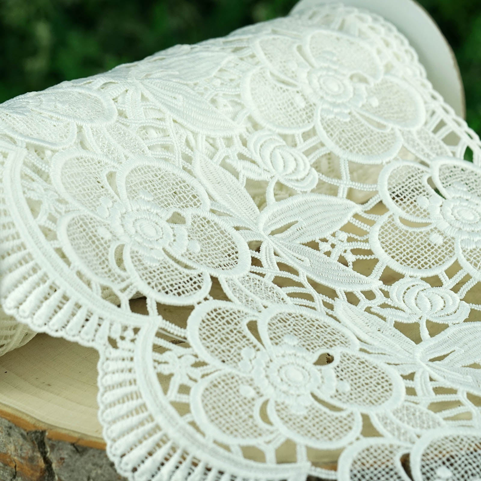 Crochet Lace Ribbon 10 X 5 Yards White Pineapple Doily