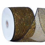 "25 Yards 4"" DIY Black Sparkling Deco Mesh Ribbons"
