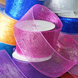 "25 Yards 4"" DIY Silver Sparkling Mesh Ribbons"