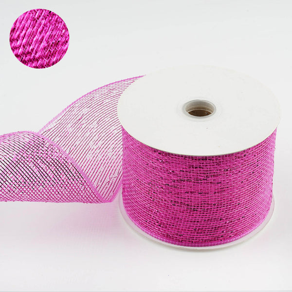"25 Yards 4"" DIY Fushia Sparkling Mesh Ribbon Wholesale - Clearance SALE"