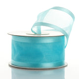 "10 Yard 1.5"" DIY Turquoise Organza Ribbon With Wired Edged"