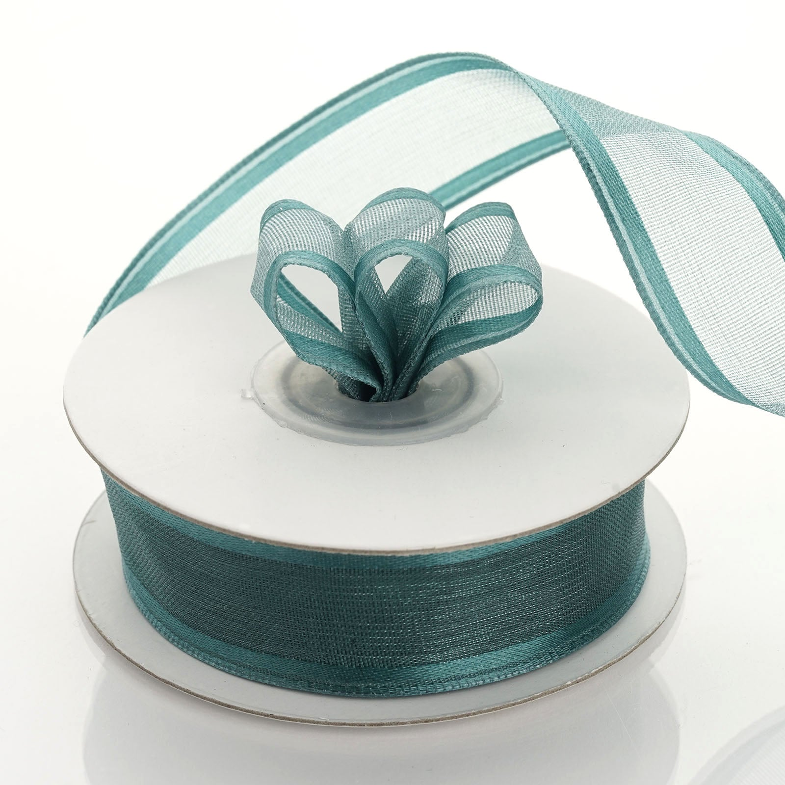 """6/"""" Green Burlap Ribbon Super-Fine Weave Wired // Finished Edges 10 Yards"""