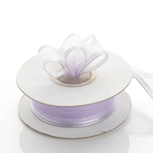 "10 Yards 7/8"" Lavender Wired Organza Ribbon"