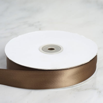 "50 Yards 1"" Chocolate Satin Ribbon"