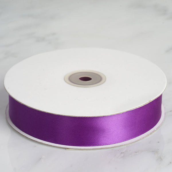 "50 Yards 1"" Eggplant Satin Ribbon - Clearance SALE"