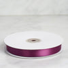 50 Yards | 5/8 Inch | Eggplant Satin Ribbon | TableclothsFactory