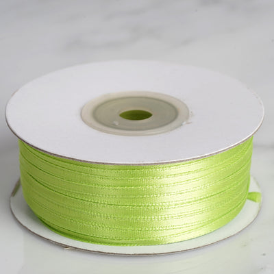 "100 Yards 1/8"" Apple Green Satin Ribbon"