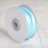 "100 Yards 1/8"" Light Blue Light Blue Satin Ribbon"