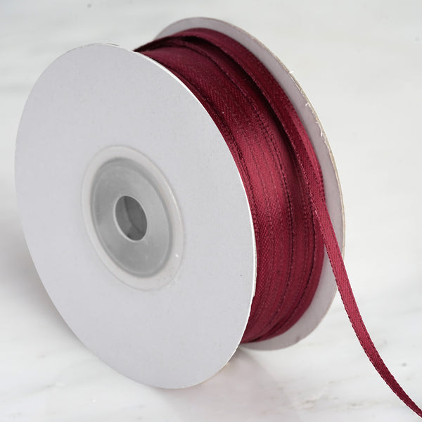 "100 Yards 1/8"" Burgundy Satin Ribbon"