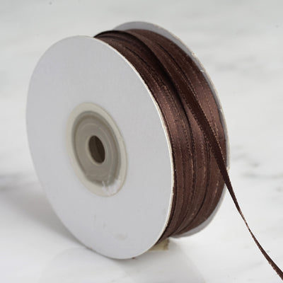 "100 Yards 1/8"" Chocolate Satin Ribbon"