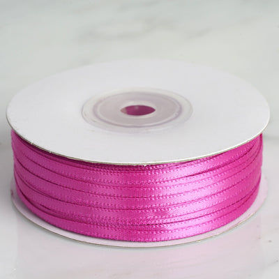 "100 Yards 1/8"" Fushia Satin Ribbon"