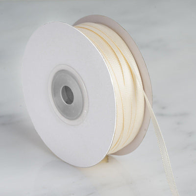 "100 Yards 1/8"" Ivory Satin Ribbon"
