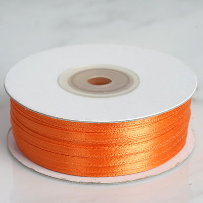 "100 Yards 1/8"" Coral Orange Satin Ribbon"