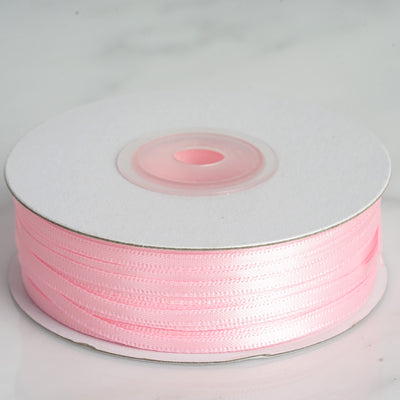 "100 Yards 1/8"" Pink Satin Ribbon"