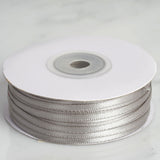"100 Yards 1/8"" Silver Satin Ribbon"