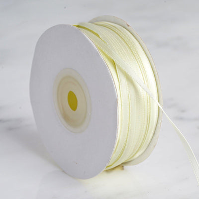 "100 Yards 1/8"" Yellow Satin Ribbon"