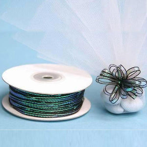 50 Yards | 1/8 Inch | Organza Pull String Bows Ribbon | TableclothsFactory