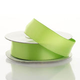 "10 Yards 7/8"" Apple Green Wired Edge Satin Ribbon"
