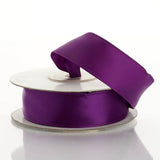 "10 Yards 7/8"" Eggplant Wired Edge Satin Ribbon"