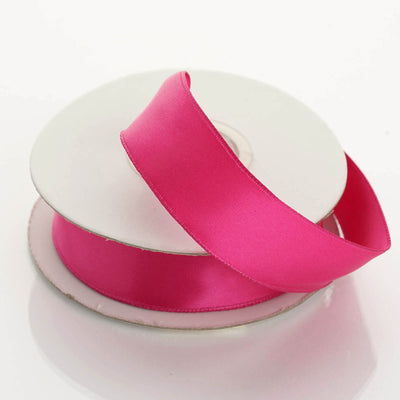 "10 Yards 7/8"" Fushia Wired Edge Satin Ribbon"