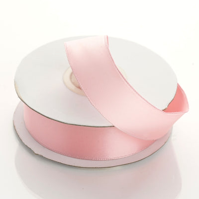 "10 Yards 7/8"" Pink Wired Edge Satin Ribbon"