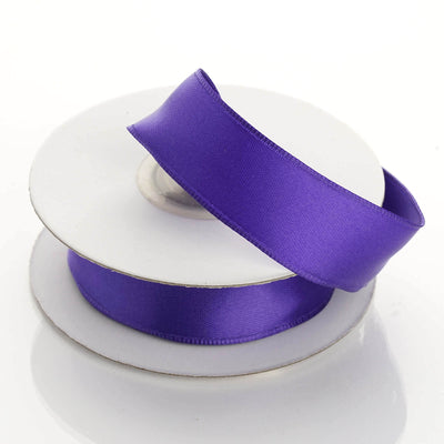 "10 Yards 7/8"" Purple Wired Edge Satin Ribbon"