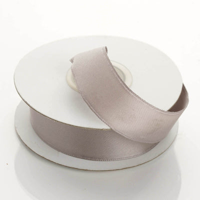 "10 Yards 7/8"" Silver Wired Edge Satin Ribbon"
