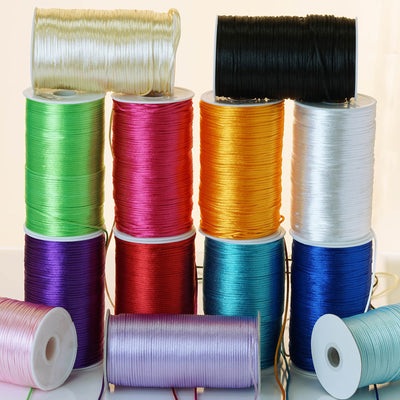 200 Yards 2mm Lavender Satin Rattail Cord Ribbon