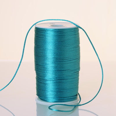 200 Yards 2mm Turquoise Satin Rattail Cord Ribbon