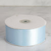 50 yards | 2 Inch Baby Blue Wholesale Satin Ribbon Roll | TableclothsFactory