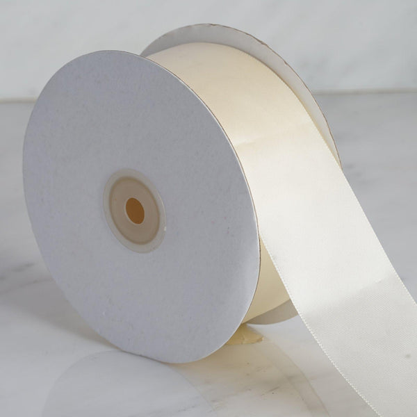 "50 yards 2"" Ivory Wholesale Satin Ribbon Roll"