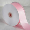 50 yards | 2 Inch Pink Wholesale Satin Ribbon Roll | TableclothsFactory