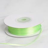 "100 Yards 1/16"" Apple Green Single Face Satin Ribbon"