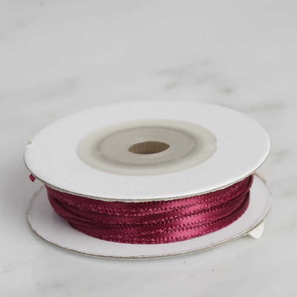 "100 Yards 1/16"" Burgundy Single Face Satin Ribbon"